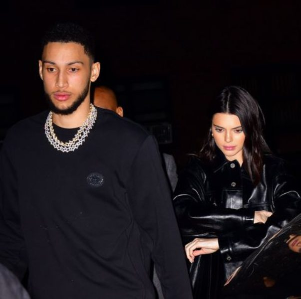 Ben Simmons with his on-off girlfriend Kendall Jenner