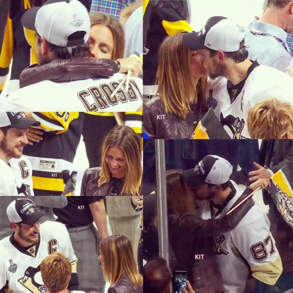 Sidney Crosby sharing romantic moment with his girlfriend