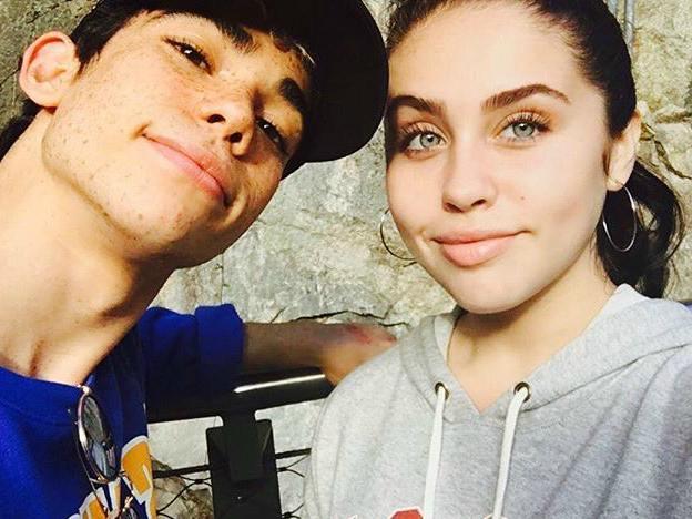 Cameron Boyce with his ex-girlfriend, Brenna D'Amico