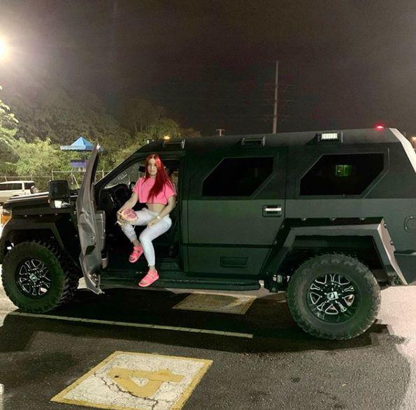 Karen Yapoort sitting inside her Jeep
