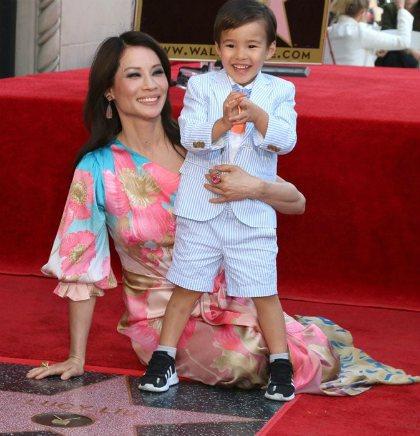 Lucy Liu with her son, Rockwell Lloyd Liu