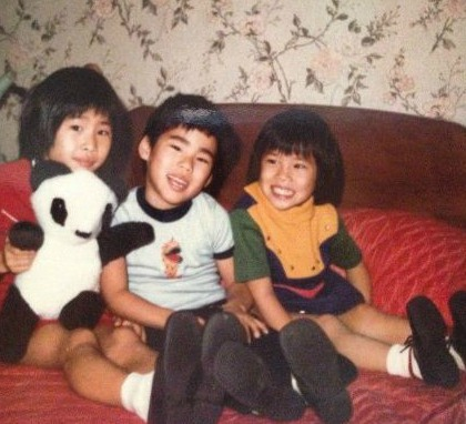 Lucy Liu's childhood photos with her siblings