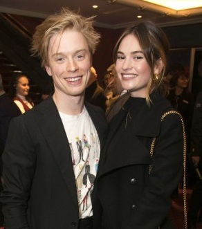 Lily James and Freddie Fox