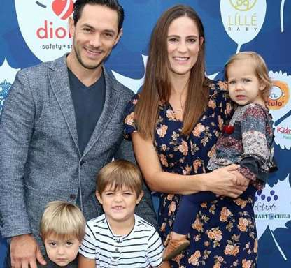 Michael Rady with his with and three kids