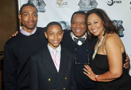 Angela Robinson-Witherspoon with her late husband with her two sons