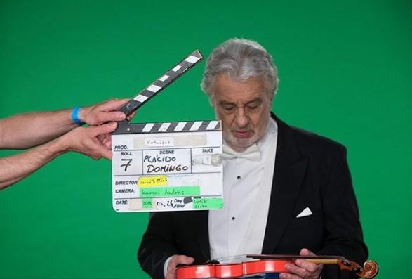 Placido Domingo acting in a film