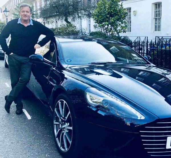 Marion Shalloe ex-husband Piers Morgan is infront of a car