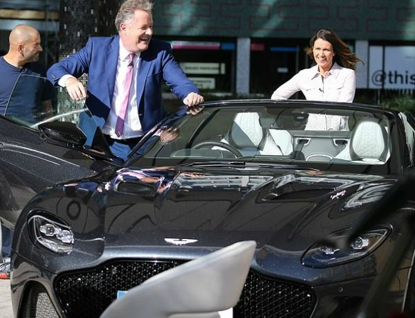 Marion Shalloe ex-husband Piers Morgan is in a car