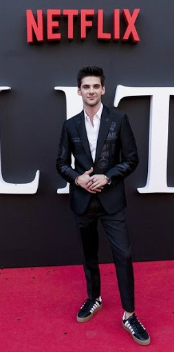 Alvaro Rico in premiered of series Elite