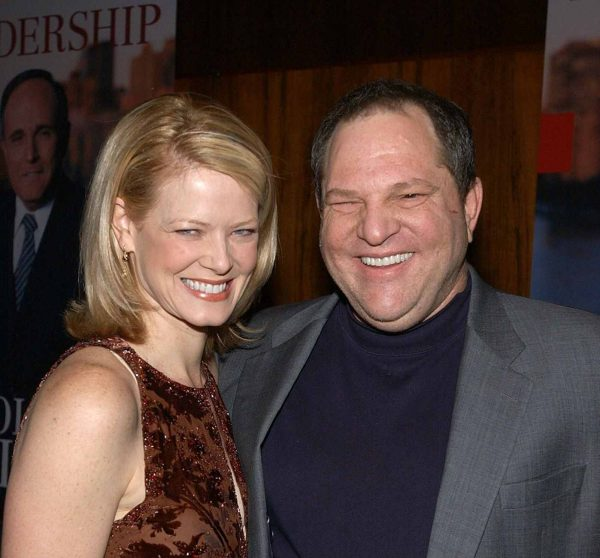 """Harvey Weinstein and wife Eve during Harvey Weinstein and Miramax Books Celebrate the Success of Rudolph Giuliani's Literary Debut, """"Leadership"""" at Four Seasons Grill Room in New York City, New York, United States"""