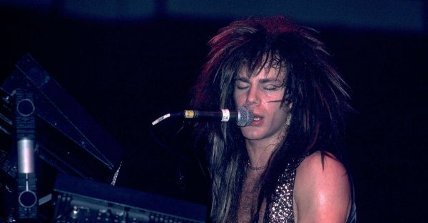American musician David Bryan of the band Bon Jovi at Met Center on Bloomington, Minnesota, April 4, 1989