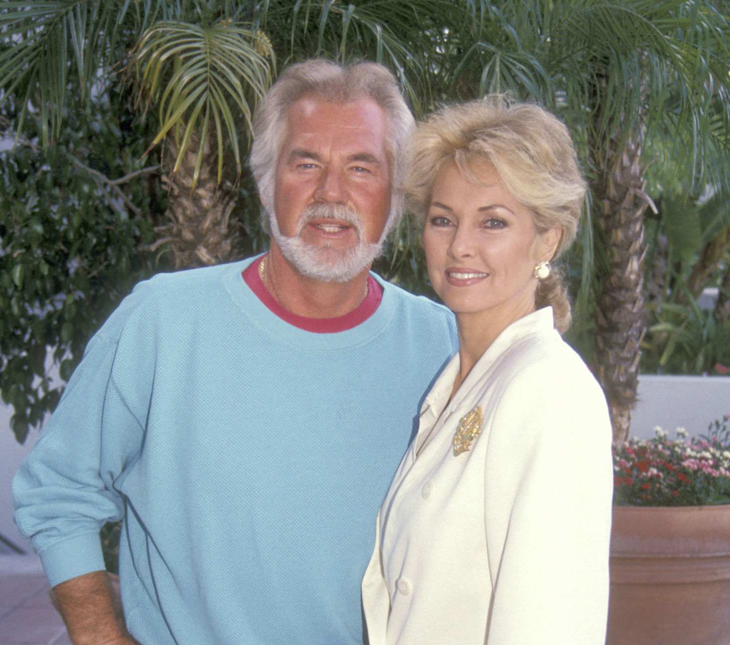 Musician Kenny Rogers and wife Marianne Gordon attend the NBC Fall TCA Press Tour on July 29, 1991 at Universal Hilton Hotel in Universal City, California