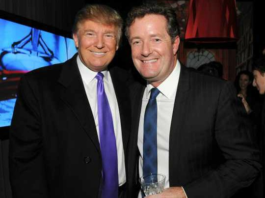 Marion Shalloe ex-husband Piers Morgan with President Donald Trump