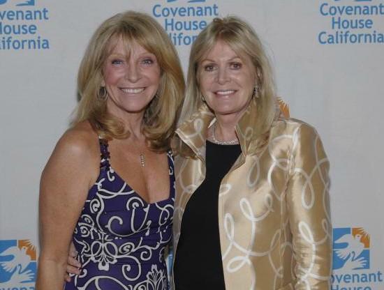 Elaine Callei Trebek with her friend