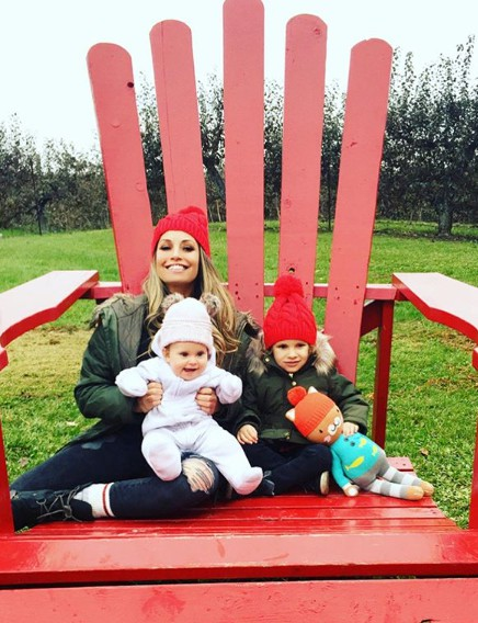Ron Fisico's wife Trish with their kids in a park