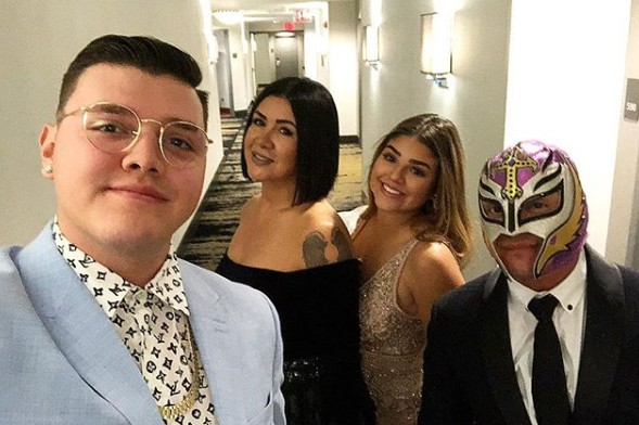 Angie Gutierrez with her husband Rey and their kids