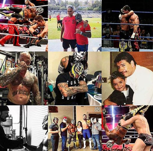 Angie Gutierrez's Rey picture collection of him wrestling
