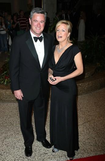 Susan Waren with her ex-husband Joe attending a party
