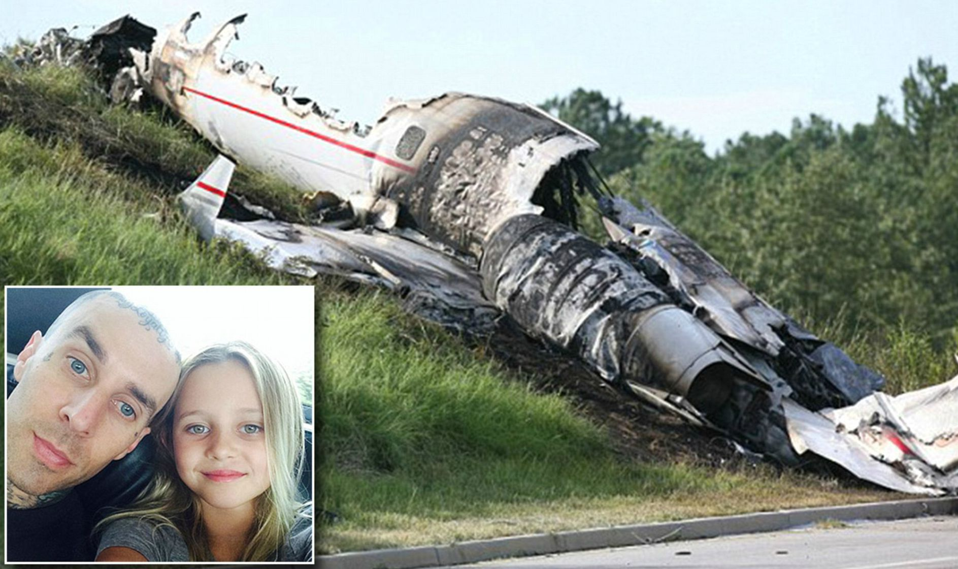 Travis Barker's plane crash