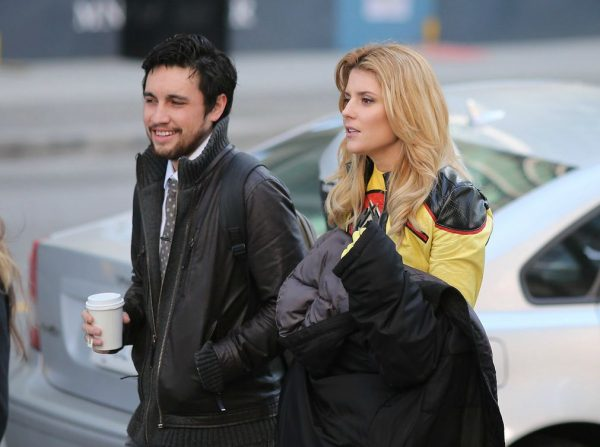 Grace Helbig walking with her ex-boyfriend Chester See