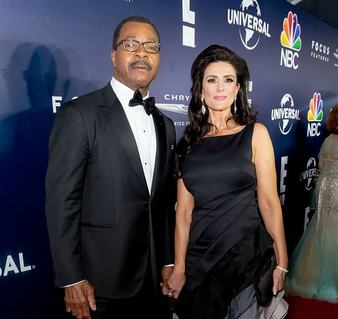 Actor Carl Weathers and girlfriend arrive at the NBCUniversal's 74th Annual Golden Globes After Party at The Beverly Hilton Hotel on January 8, 2017 in Beverly Hills, California