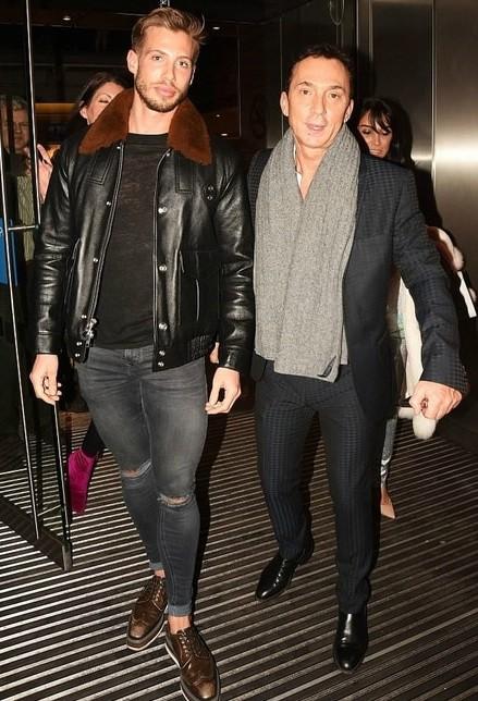 Jason Schanne walking with his partner Bruno