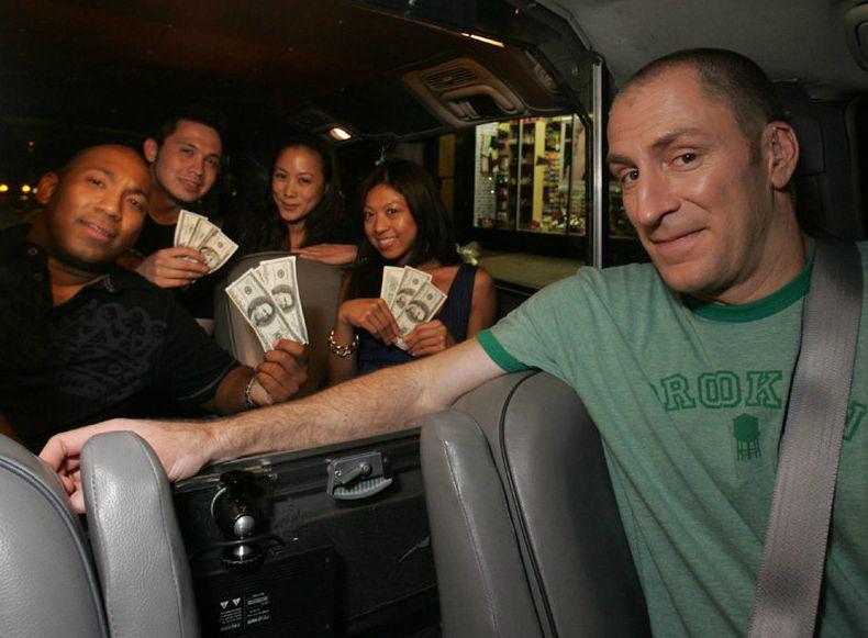 Laurence Bailey's ex-husband Ben with winner of Cash Car