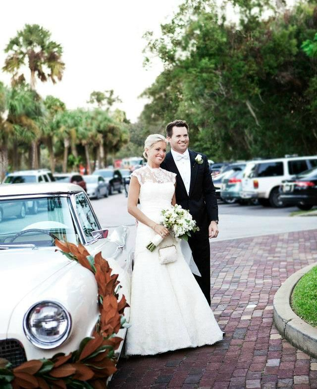 Ainsley Earhardt's wedding picture with her ex-husband Proctor