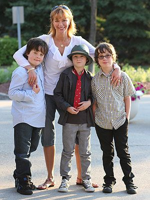 Francis Greco's ex-wife Holly with their kids