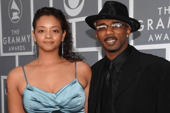 Shelly Tresvant's ex-husband Ralph with his current wife Amber