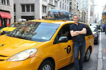 Laurence Bailey's ex-husband Ben with show taxi