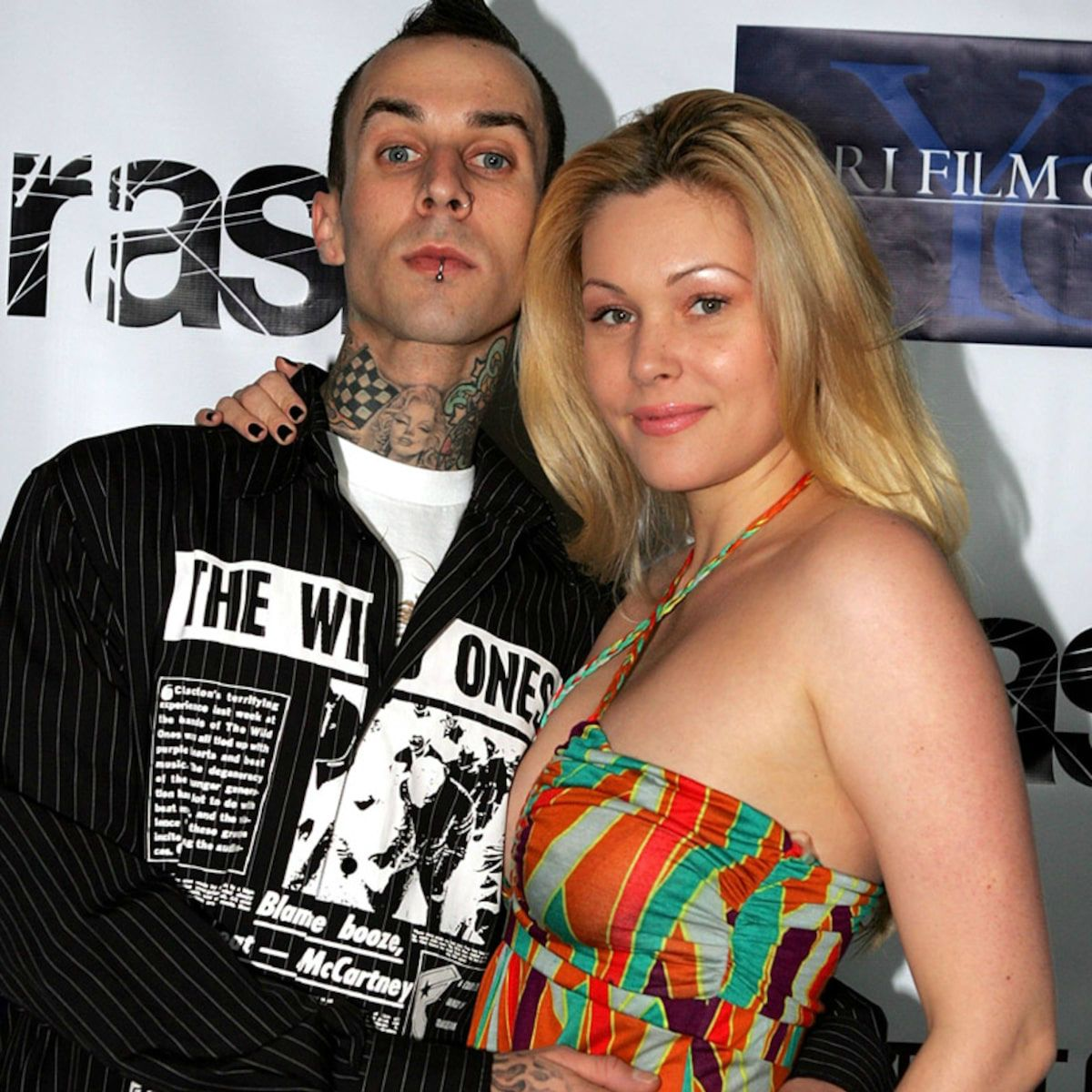 Travis Barker with his ex-wife Shanna
