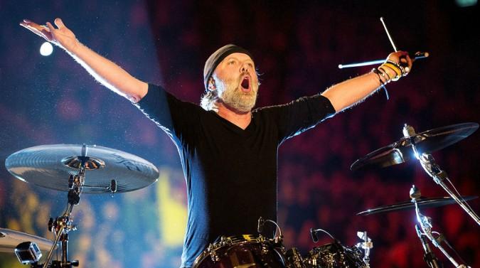 Skylar Satenstein's ex-husband Lars playing drum set