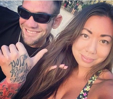 Maui's ex-husband Leland clicking selfie with his wife