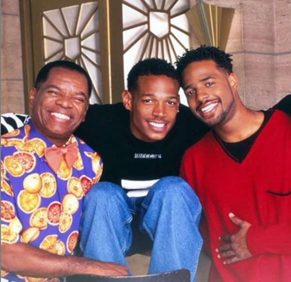 Shawn Wayans with his father and sibling brother