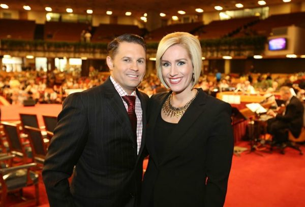 Gabriel Swaggart clicking picture with his wife Jill