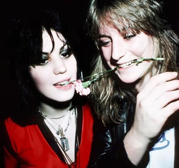 Joan Jett with her friend