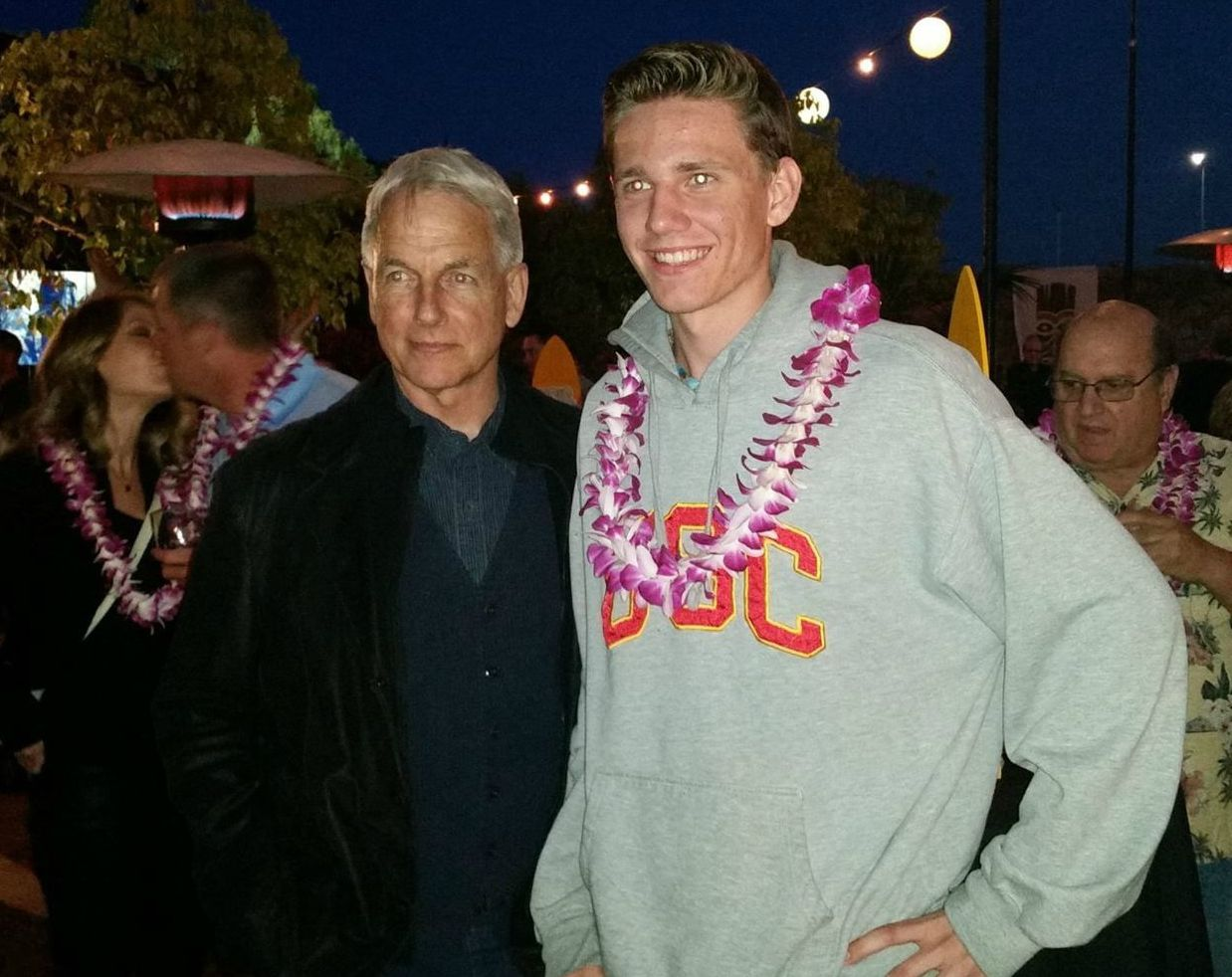 Ty Christian Harmon with his father Mark