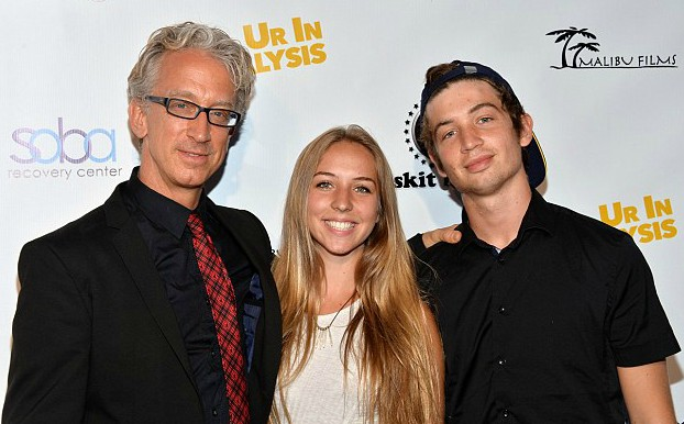 Lena Sved with her husband Andy and their son