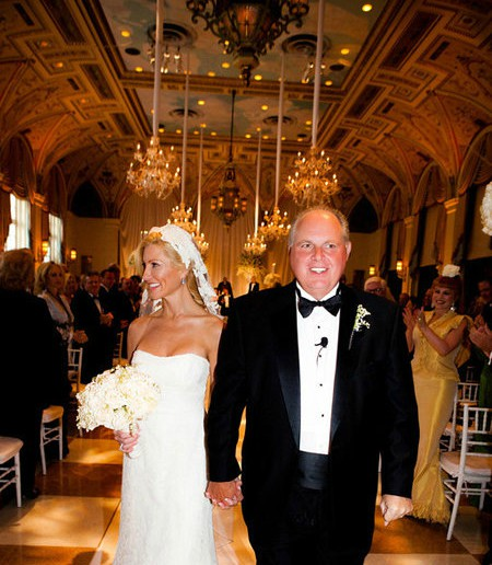 Kathryn Adams Limbaugh wedding picture with her husband Rush