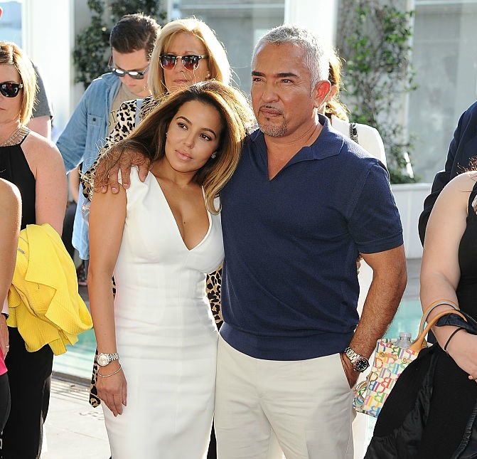"Dog behaviorist Cesar Millan (R) and Jahira Dar attend the Premiere of Nat Geo Wild's ""Cesar 911"" Season 2 at SkyBar at the Mondrian Los Angeles on March 13, 2015 in West Hollywood, California"
