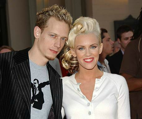 Evan Joseph Asher's parents Jenny McCarthy and John Mallory Asher during 32nd Annual American Music Awards