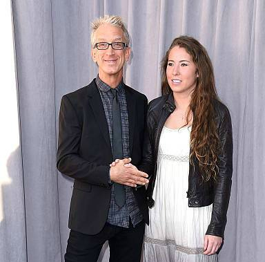 Comedian Andy Dick (L) and Lena Sved attend The Comedy Central Roast of Justin Bieber at Sony Pictures Studios on March 14, 2015, in Los Angeles, California