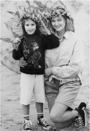 Honey Hollman with her mother in childhood picture