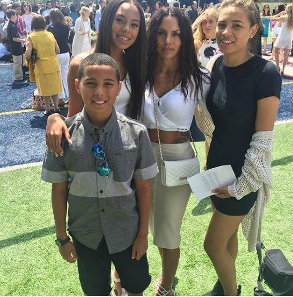 Shawn Wayans's ex-wife Ursula with their kids