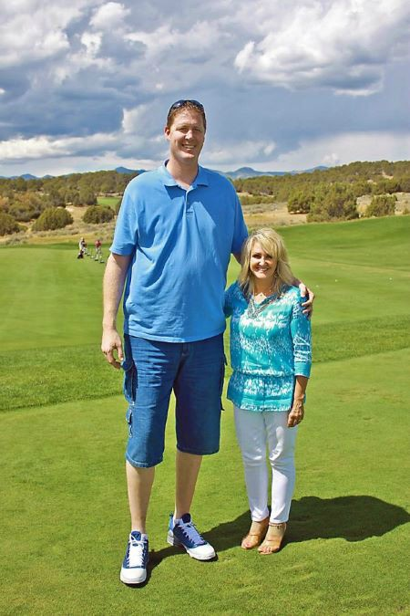 Annette Evertson with her husband Shawn Bradley