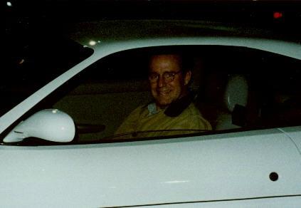 Sean Edward Hartman's father Phil sitting inside his car