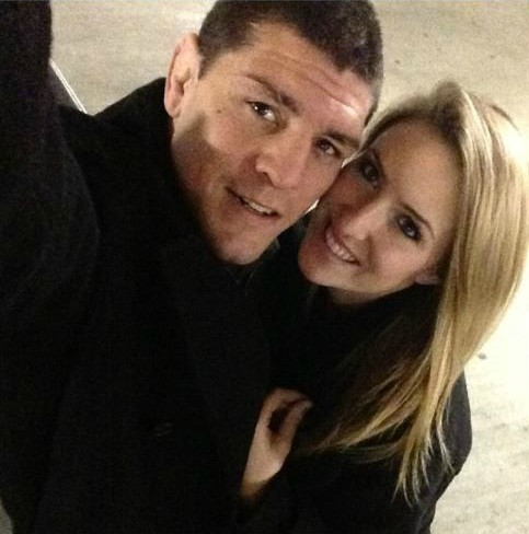 Nick Diaz clicking selfie with his girlfriend Misty