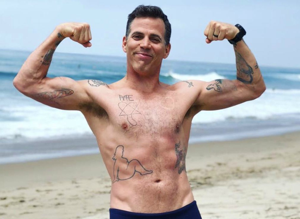 Candy Jane Tucker's ex-husband Steve-O showing his body