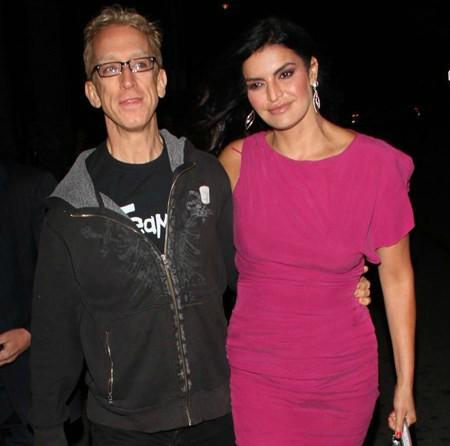 Lena Sved's husband Andy with Jennifer Gimenez